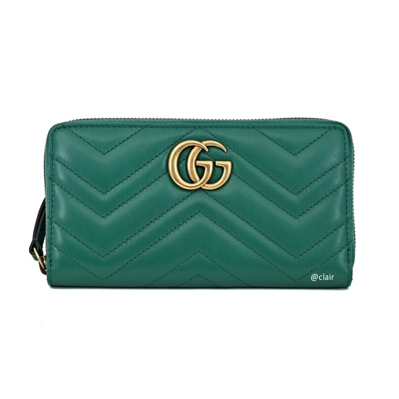 Gucci Handbags - Gucci GG Marmont Leather Zip-Around Wallet